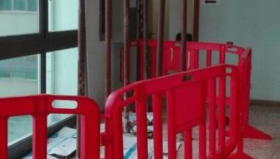 Siena, crolla contro soffitto ospedale: 5 feriti